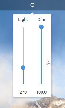 Brightness control widget